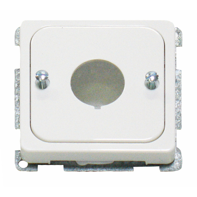 1 Stk Zentralplatte für Befehlsgeräte mit 22,5mm Loch, reinweiß EL203064--