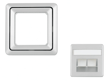 1 Stk Rahmen 1-fach, Edelstahleffekt Riva EL2041211-
