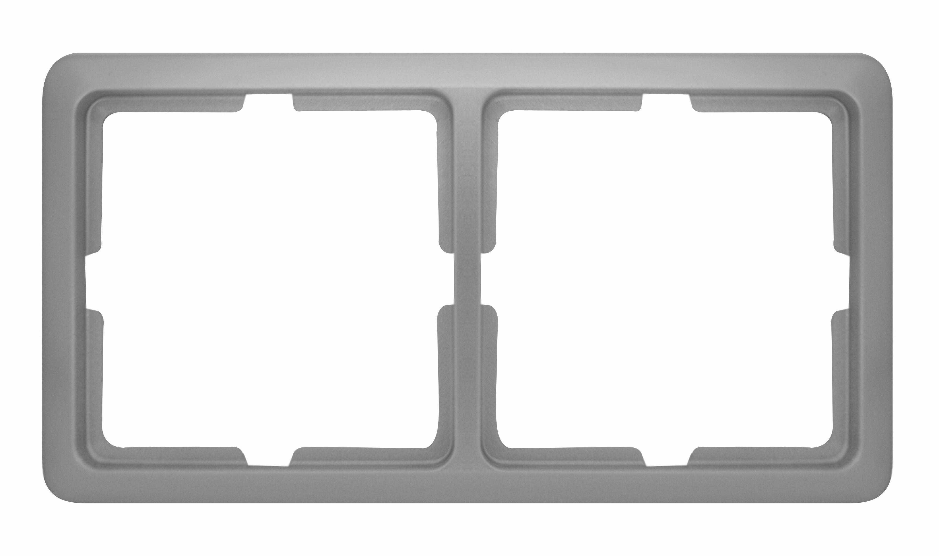 1 Stk Rahmen 2-fach, Alueffekt Scala EL2042119-
