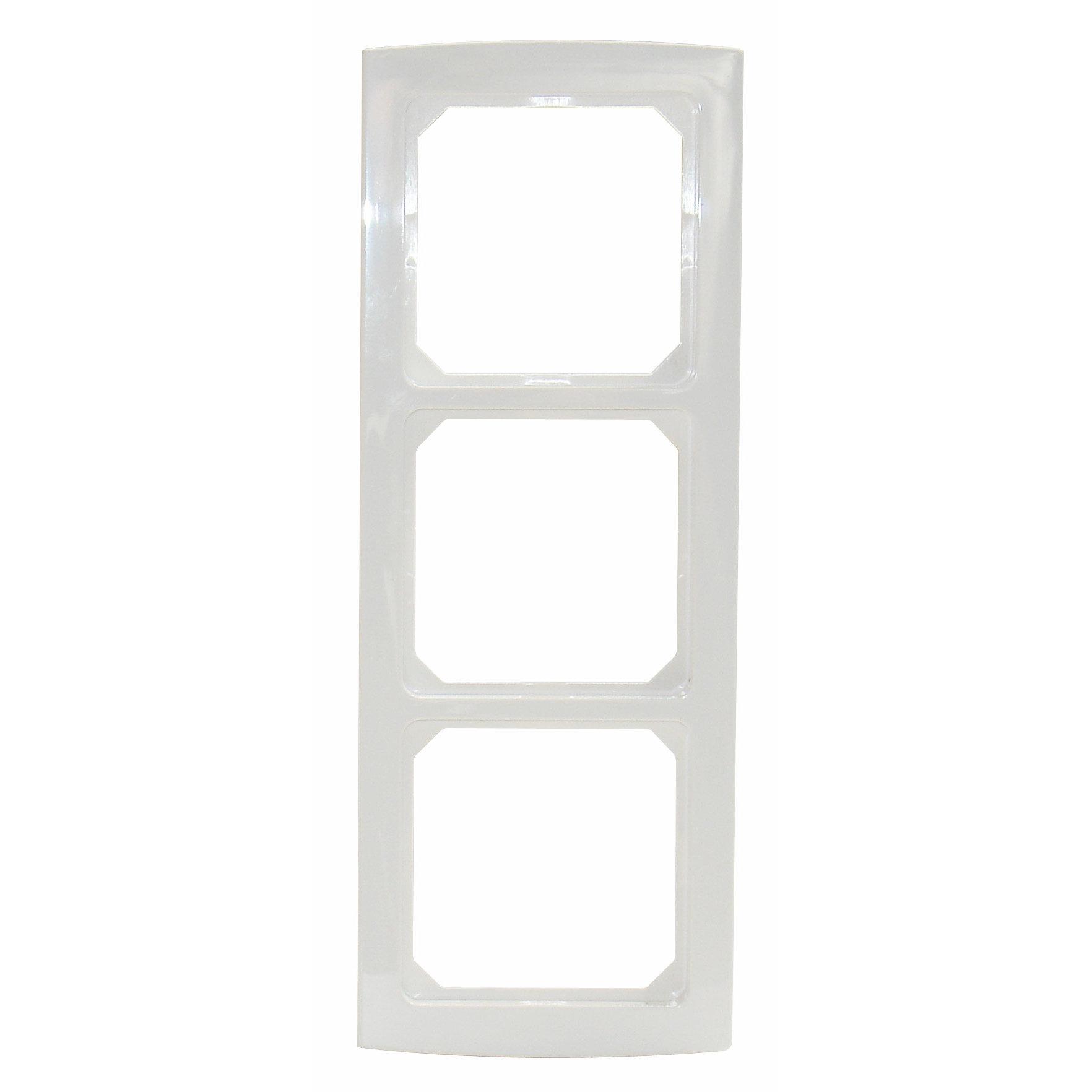 1 Stk Rahmen 3-fach, perlweiß Riva EL204320--