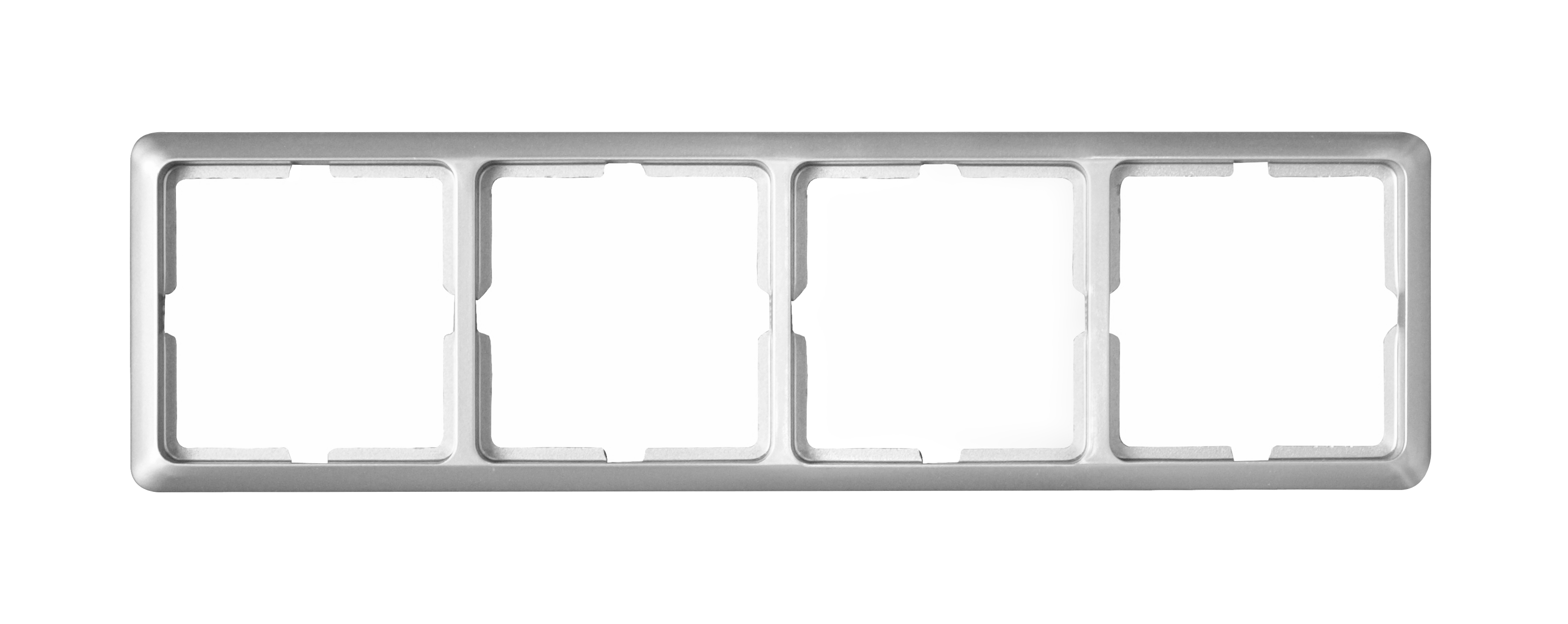 1 Stk Rahmen 4-fach, Edelstahleffekt Scala EL2044111-