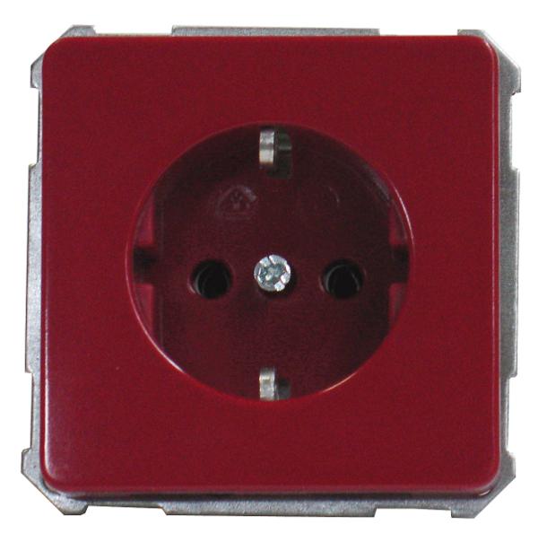 1 Stk UP-Steckdoseneinsatz, Steckklemmen, rot EL205009--