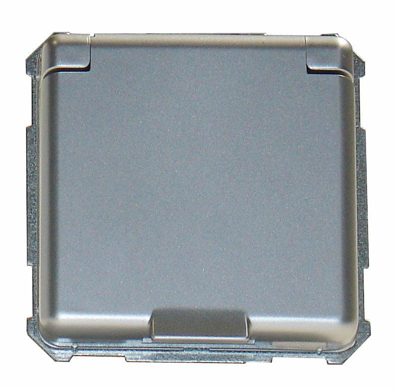 1 Stk UP-Steckdoseneinsatz mit Klappdeckel, Steckklemme, Alueffekt EL2050319-