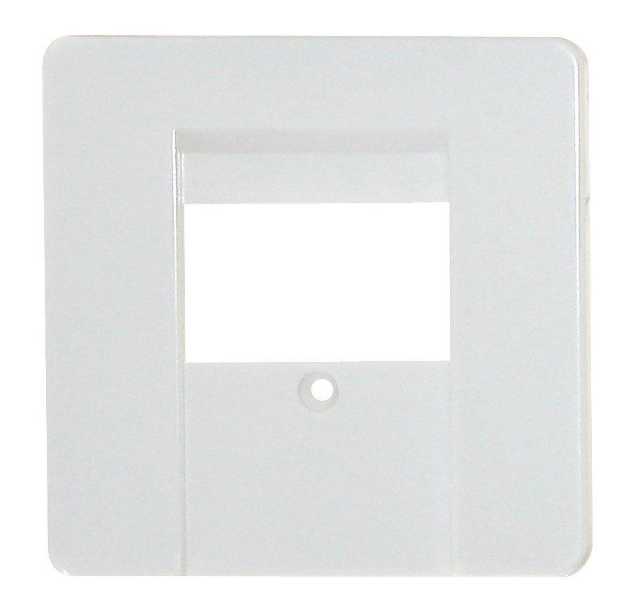 1 Stk Zentralplatte für Anschlussdose TDO/TAE 3-fach, perlweiß EL206010--