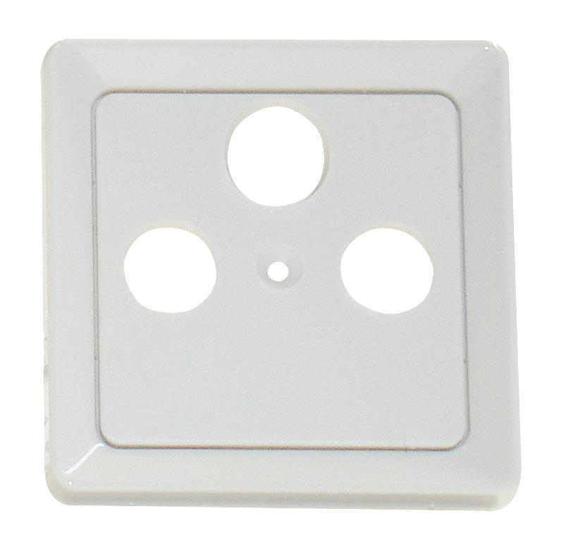 1 Stk Zentralplatte 3-Loch für Sat-Antennensteckdose, perlweiß EL206030--