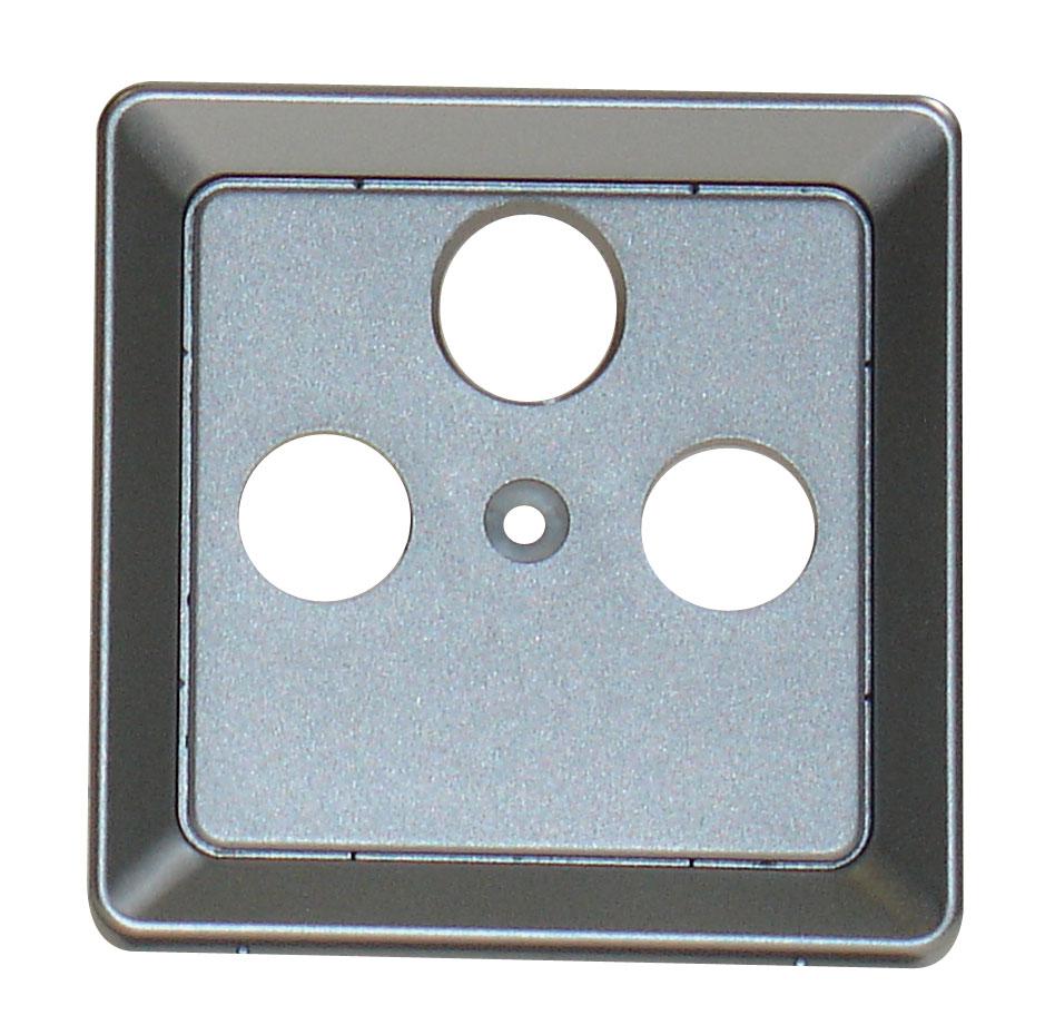 1 Stk Zentralplatte 3-Loch für Sat-Antennensteckdose, Alueffekt EL2060319-