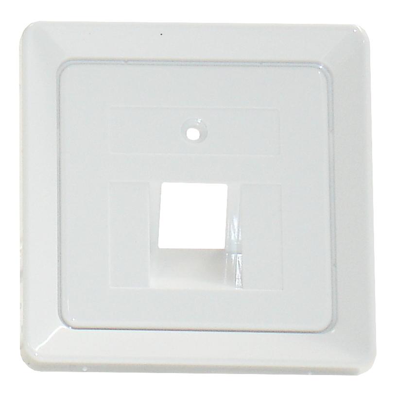 1 Stk Zentralplatte für UAE 1xRJ45 ohne Schriftfeld, reinweiß EL206404--