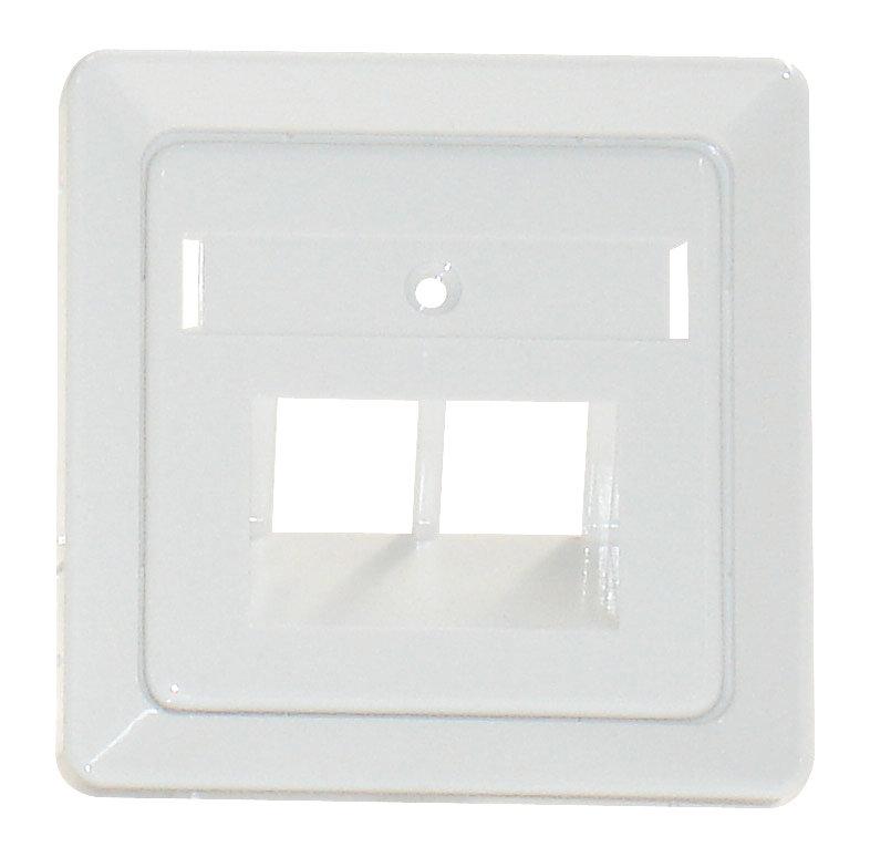 1 Stk Zentralplatte für UAE 2xRJ45 mit Schriftfeld, perlweiß EL206530--