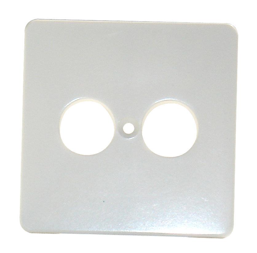 1 Stk Zentralplatte für Lautsprechersteckdose, perlweiß EL206910--