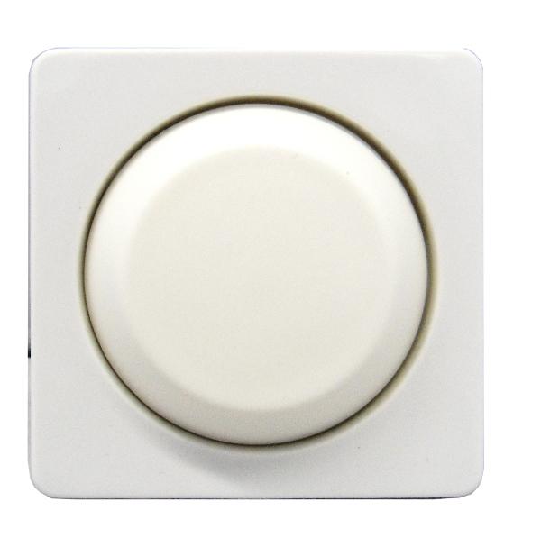 1 Stk Zentralplatte mit Drehknopf für Dimmereinsatz, perlweiß EL207010--