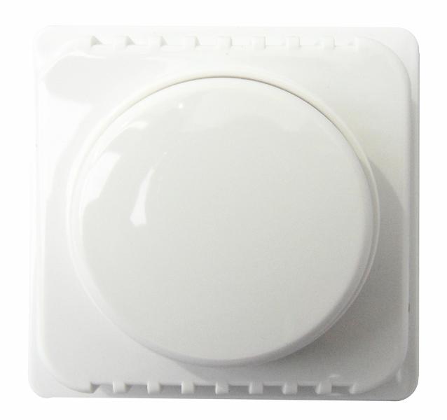 1 Stk Zentralplatte mit Drehknopf für 1000 W-Dimmer, reinweiß EL207054--