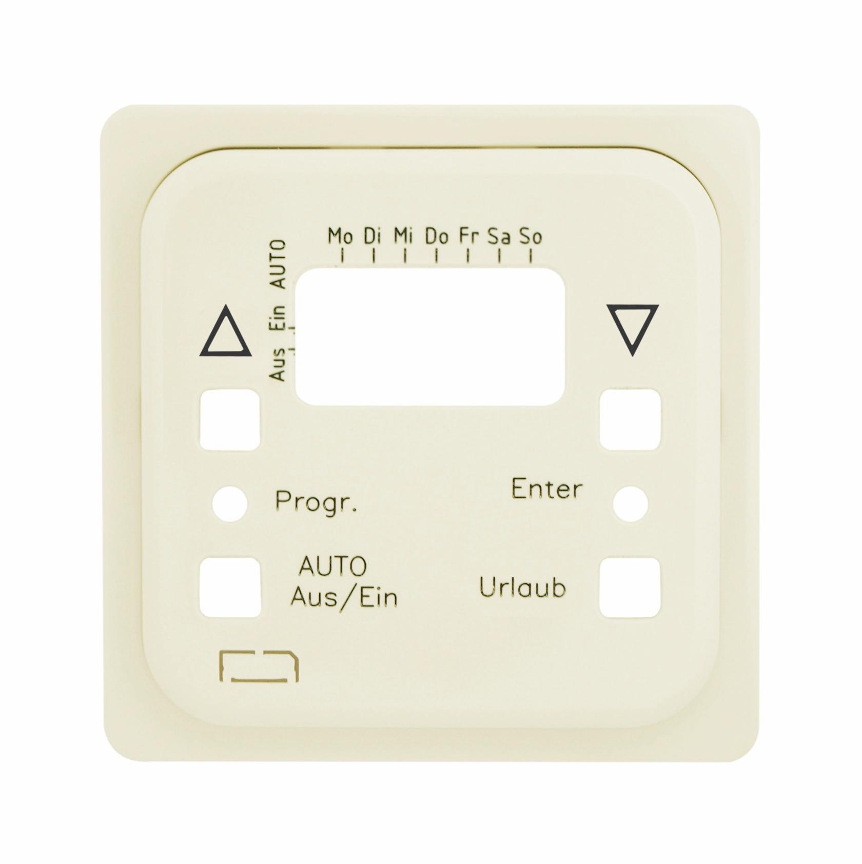 1 Stk Zentralplatte für Astro-Uhr mit Sensor perlweiss F/S/R EL207180--