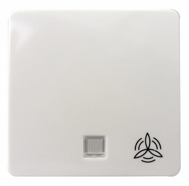 1 Stk Wippe beleuchtet mit Symbol Lüfter reinweiß EL213184--
