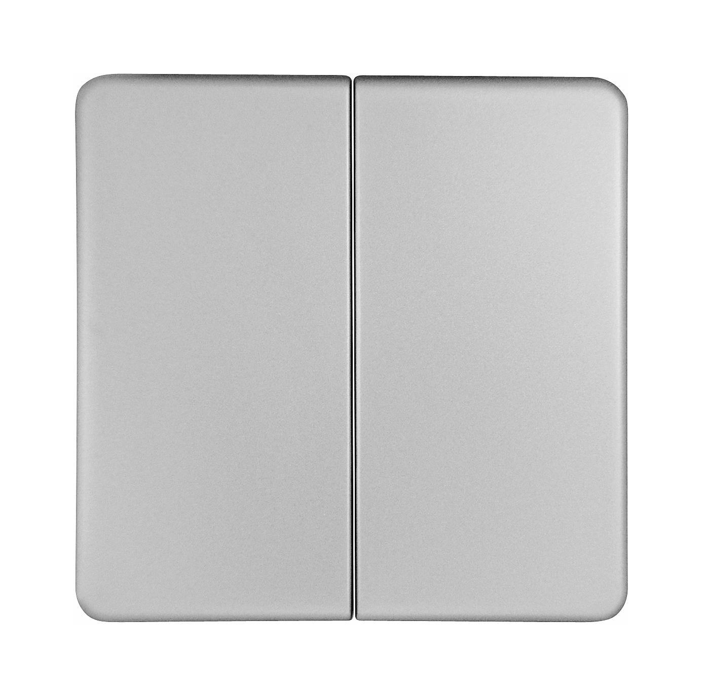1 Stk Wippe für Serienschalter und Doppeltaster, Edelstahleffekt EL2135011-