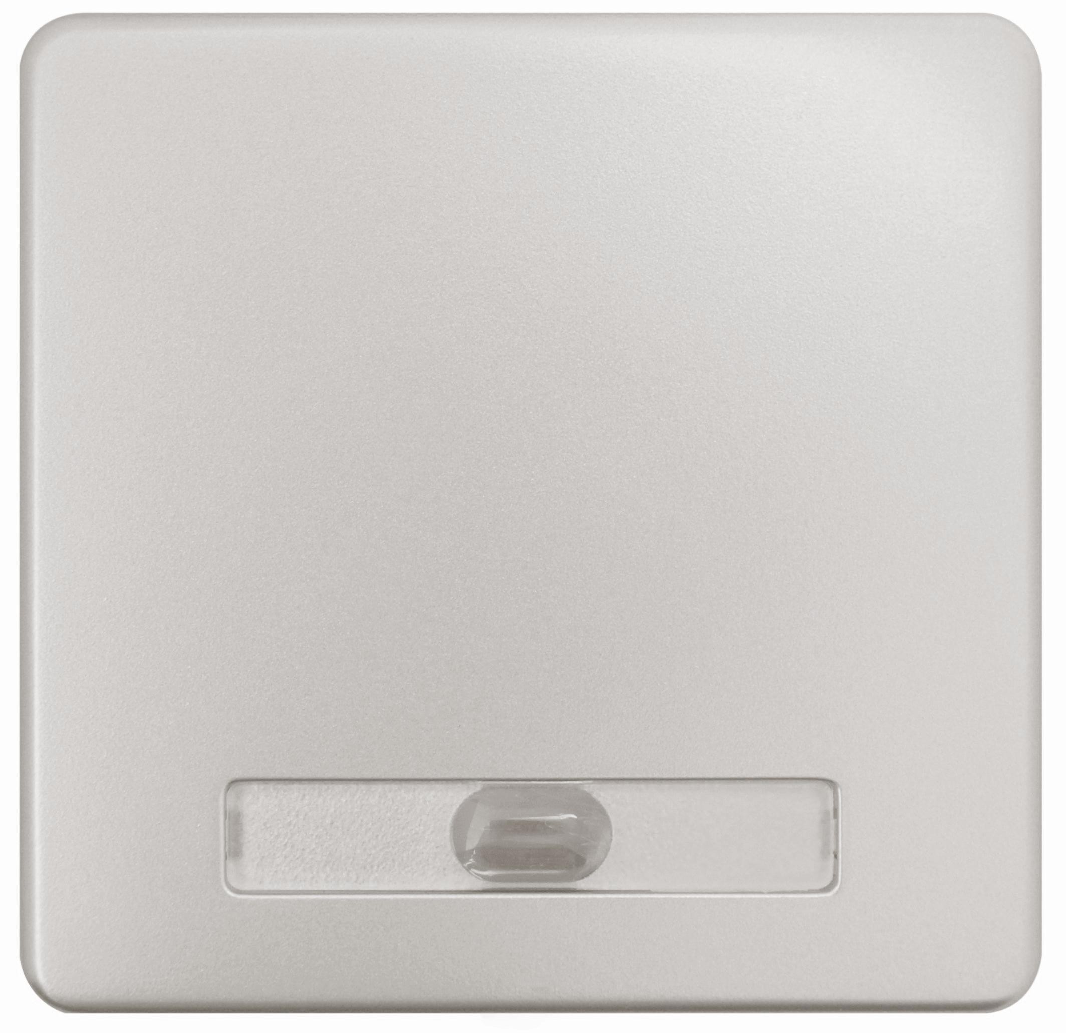1 Stk Wippe beleuchtet für Schalter und Taster, Edelstahleffekt EL2136111-