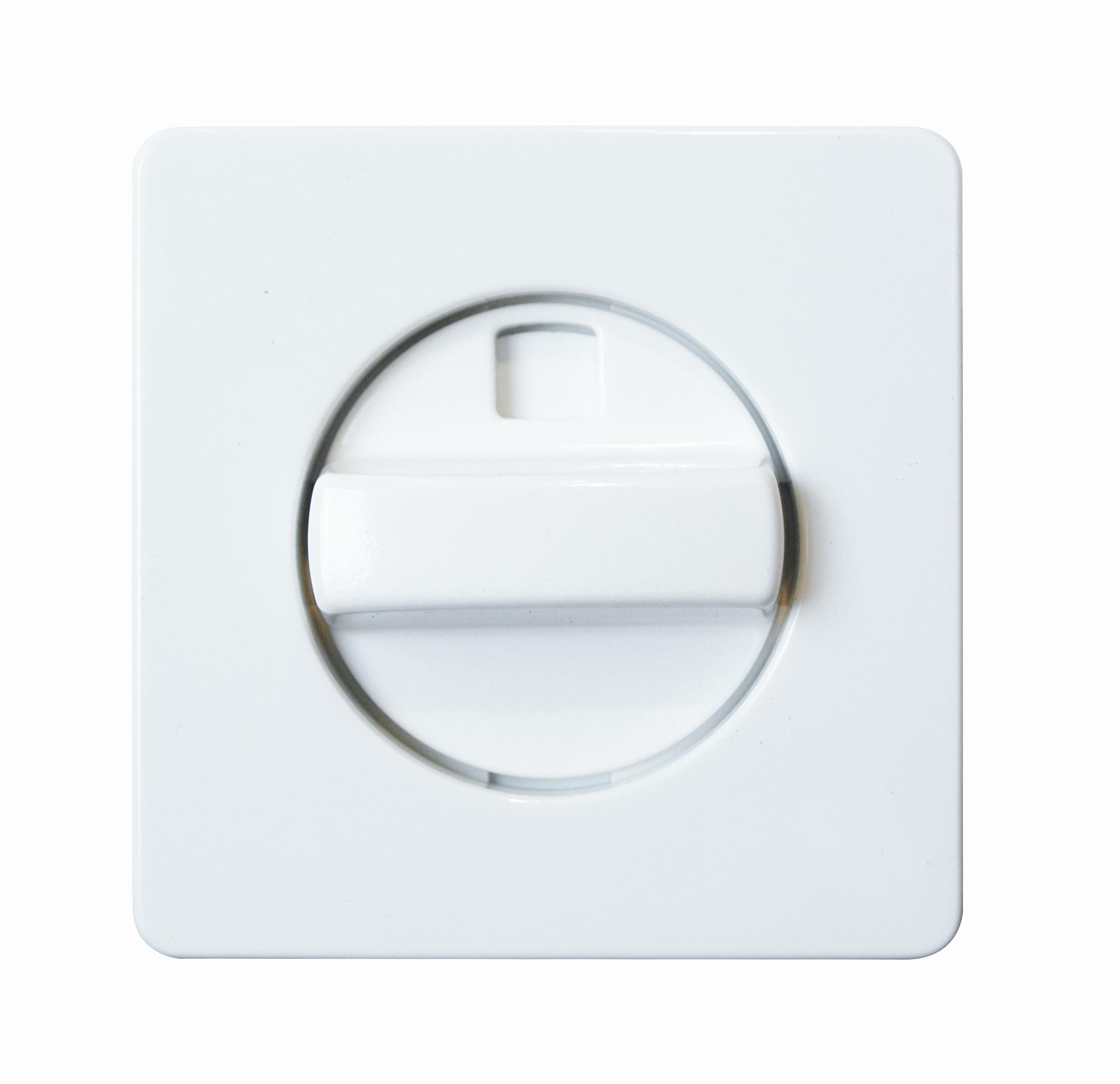 1 Stk Zentralplatte für Jalousie- Drehschalter reinweiß EL223044--