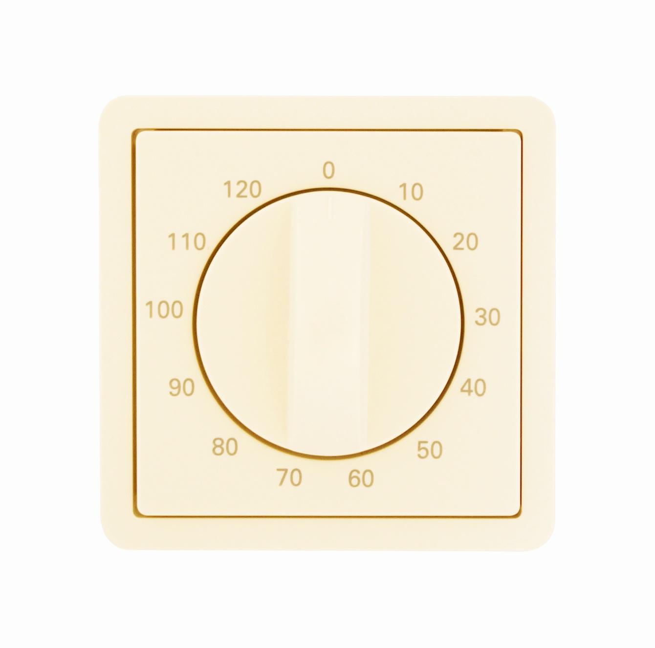 1 Stk Zentralplatte für Zeitschalter 120min, perlweiß EL223090--