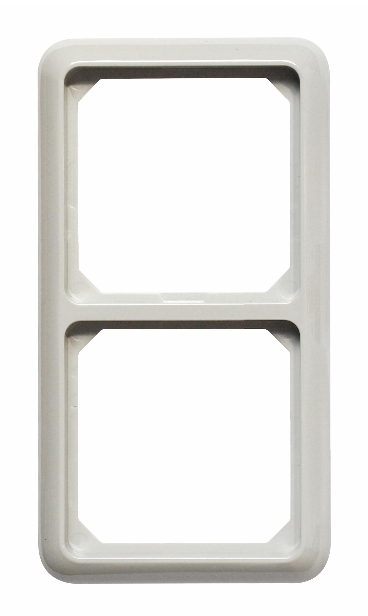 1 Stk Rahmen 2-fach IP44, grau EL224241--