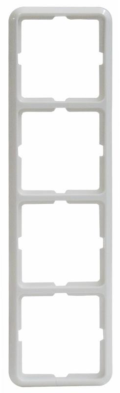 1 Stk Rahmen 4-fach, reinweiß, Thermo bruchfest, Fashion EL224404--