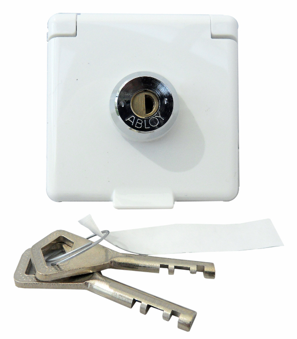 1 Stk Steckdoseneinsatz abschließbar, verschiedene Schließungen rw EL225064--