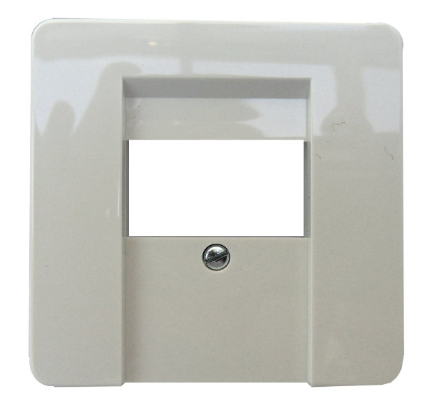1 Stk Zentralplatte für Anschlussdose TDO/TAE, Thermo bruchfest,rw EL226014--