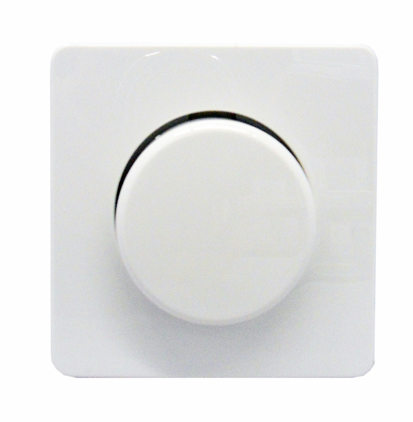 1 Stk Zentralplatte mit Drehknopf für Dimmereinsatz, reinweiß EL227014--