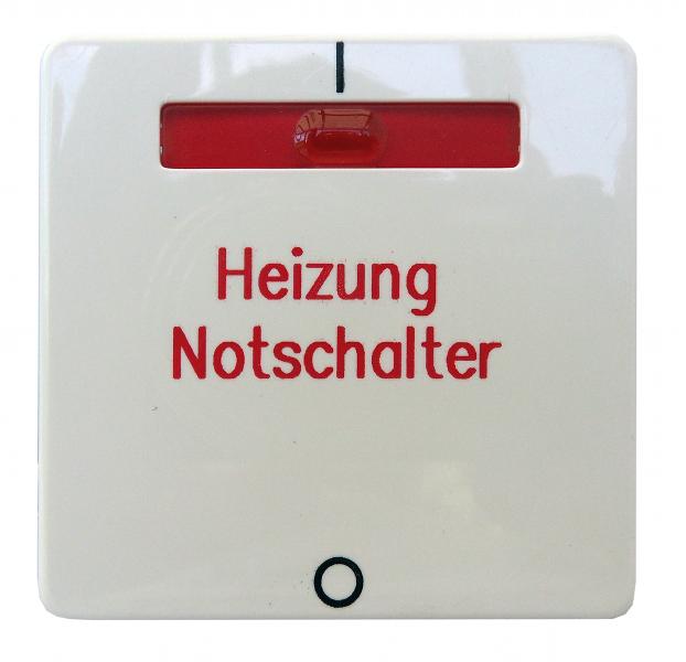 1 Stk Wippe für Heizung Notschalter reinweiss EL233224--