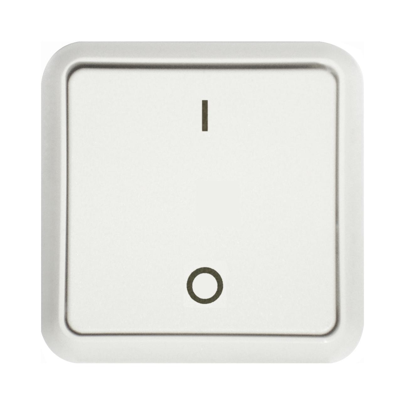1 Stk UP-IP44 Ausschalter 2-polig, reinweiß EL411204--