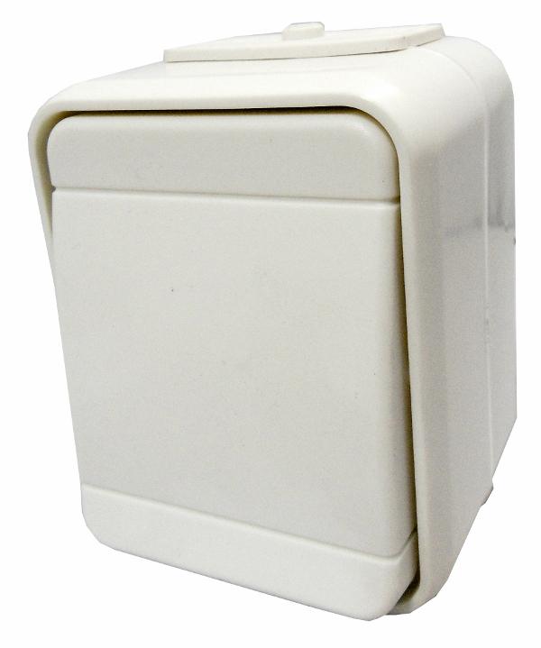 1 Stk AP IP44 Universalschalter, Steckklemme, perweiß, Aqua-Top EL441600--
