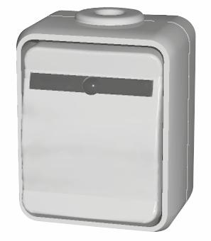 1 Stk AP IP44 Wechsel-Kontrollschalter beleuchtet, basaltgrau EL441649--