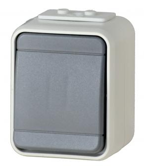 1 Stk AP IP44 Taster, Steckklemme, basaltgrau, Aqua-Top EL442109--