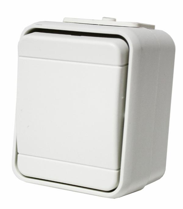 1 Stk AP IP44 Universalschalter, Schraubklemme, perweiß, Aqua-Top EL451600--