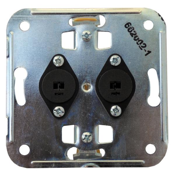 1 Stk Einsatz mit 2 Lautsprecherbuchsen DIN41529 EL662002--