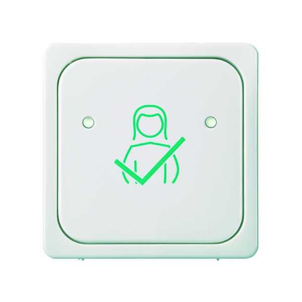 1 Stk Tastfläche 1-fach für Abstelltaster mit Symbol, reinweiß EL735814--