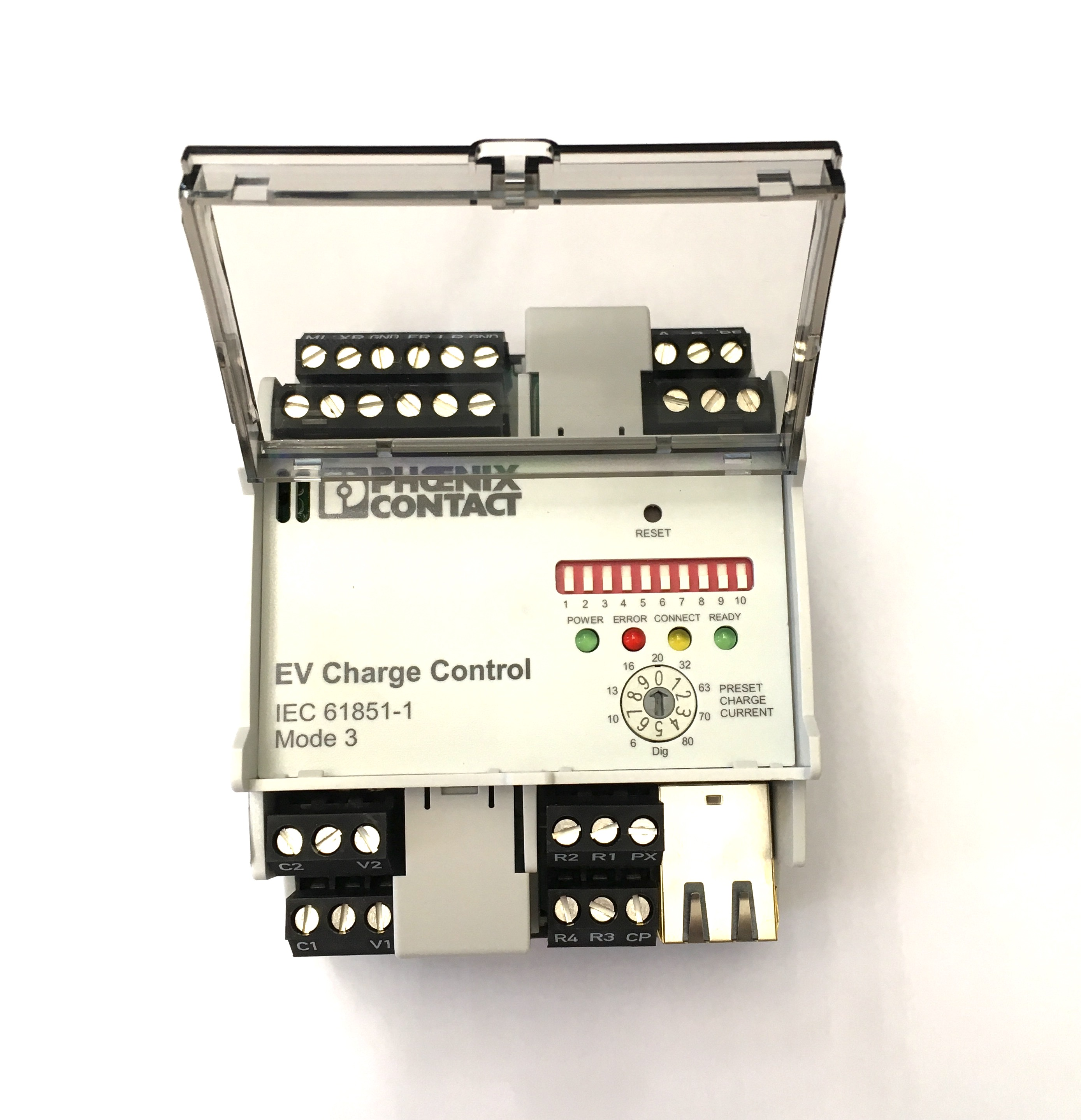 1 Stk i-CHARGE Controller, EN61851-1 Mode 3, variable Ladeleistung EMCEMCP---