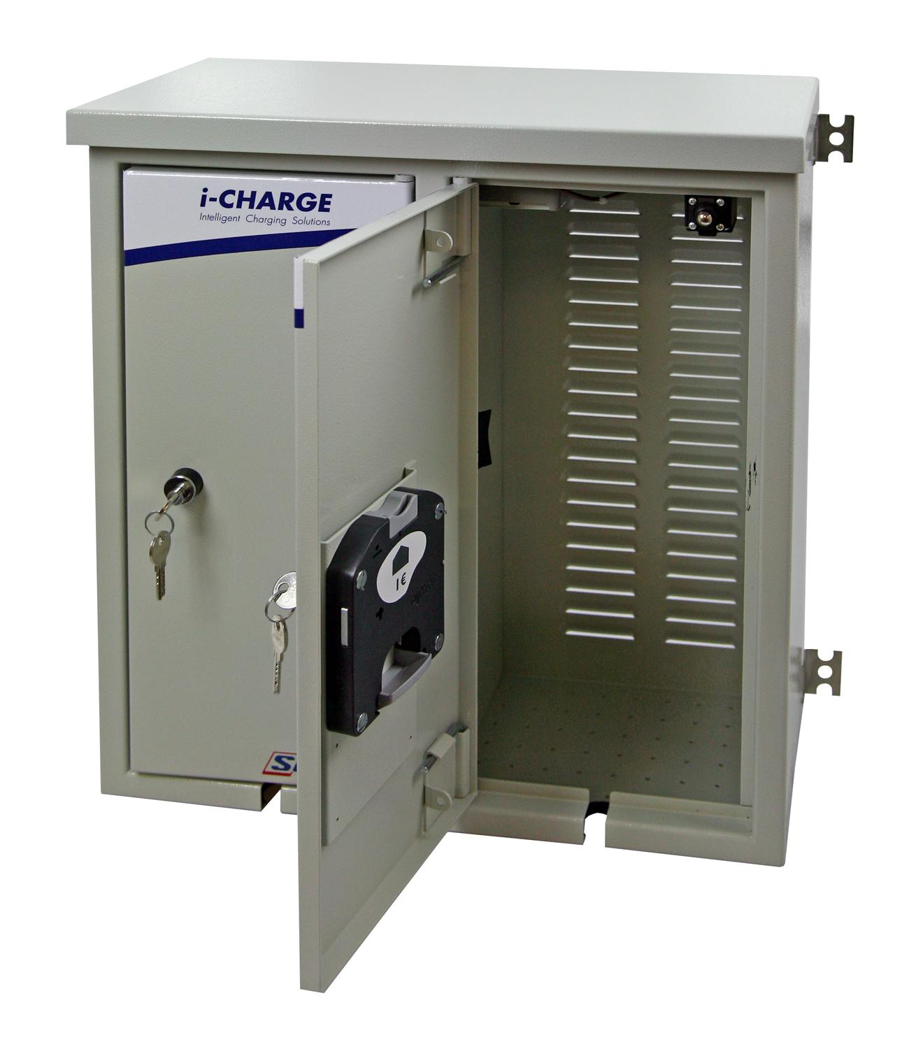 1 Stk i-CHARGE easy pack 2x Schuko 3,7kW, mit versperrbarer Türe EMEPS020--