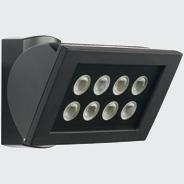 1 Stk AF S 300 LED 3000°K, Strahler Aluminium, 8 LEDs, 24 Watt, sw ESL521010-