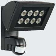 1 Stk AF 300/200i LED 3000°K, Strahler + Melder Alu, 8LEDs,24W, sw ESL521119-