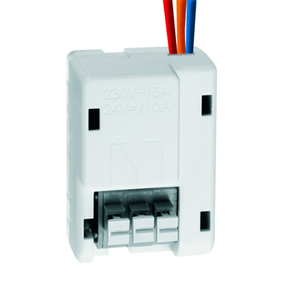 1 Stk PROTECTOR K Schaltrelais, 24VDC/10A, 230VAC/5A, weiß  ESR018923-