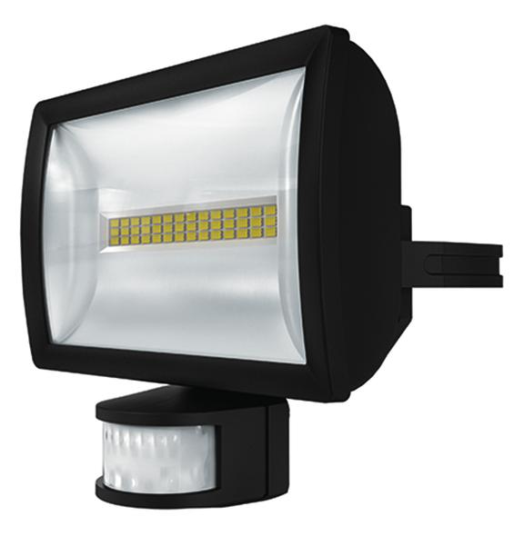1 Stk LED Strahler mit Bewegungsmelder, 20 Watt/180°/12m, schwarz EST1020914