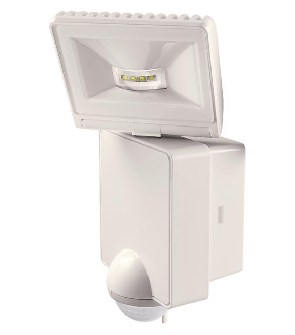 1 Stk LED Strahler mit Bewegungsmelder, 8W/90°/9m, IP44, weiß EST1020951