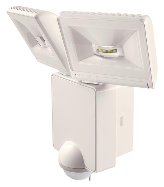 1 Stk LED Strahler mit Bewegungsmelder, 16W/90°/9m, IP44, weiß EST1020953