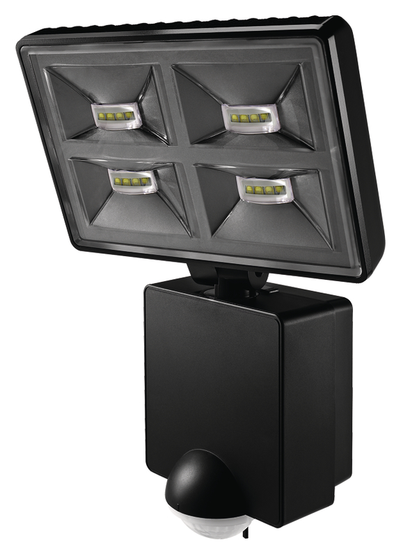 1 Stk LED Strahler mit Bewegungsmelder, 32W/180°/9m, IP55, schwarz EST1020976