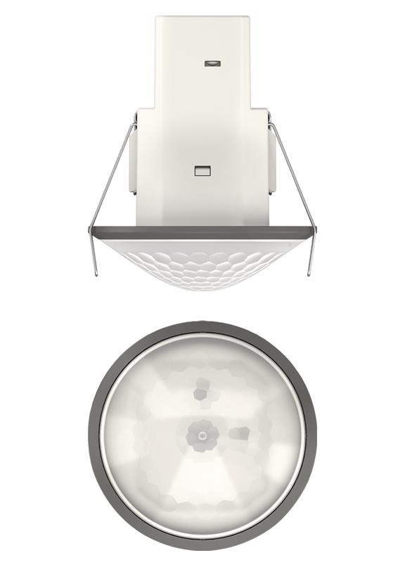 1 Stk Bewegungsmelder für Deckenmontage, 360°/Ø8m/IP54, grau EST1030561
