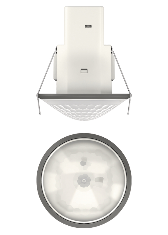 1 Stk Bewegungsmelder für Deckenmontage, 360°/Ø8m/IP54, grau EST1030566