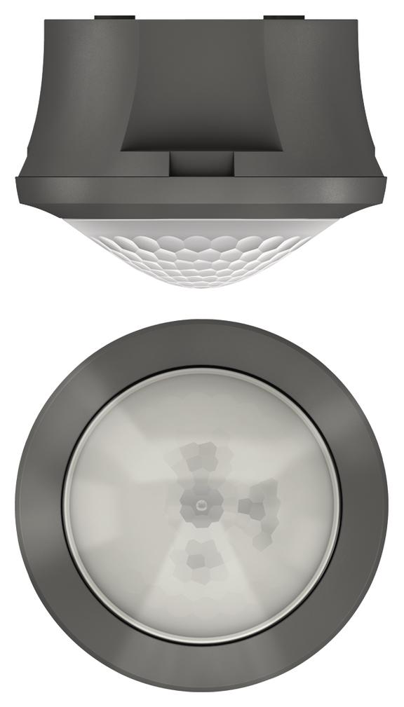 1 Stk KNX-Bewegungsmelder für Deckenmontage, 360°/Ø8m/IP54, grau EST1039551