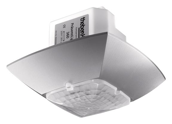 1 Stk Präsenzmelder für Deckenmontage, 360°, 36m², IP54, silber EST2000801