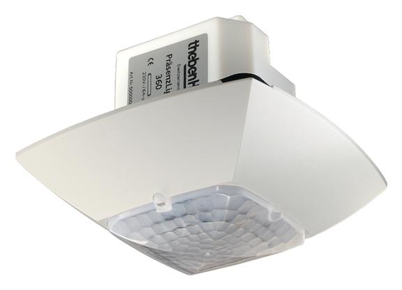 1 Stk KNX-Präsenzmelder für Deckenmontage, 360°/36m²/IP54, weiß  EST2009000