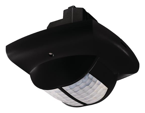 1 Stk Präsenzmelder für Deckenmontage, 360°, 49m², IP40, schwarz EST2010809