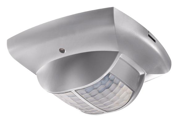 1 Stk KNX-Präsenzmelder für Deckenmontage, 360°/68m²/IP40, silber EST2019810
